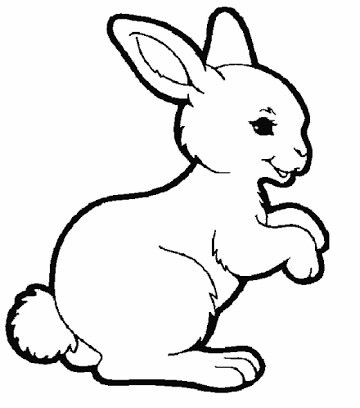 Small Rabbits Are Acting Funny Coloring Pages