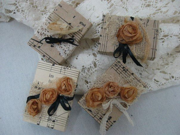 roses from tea bags