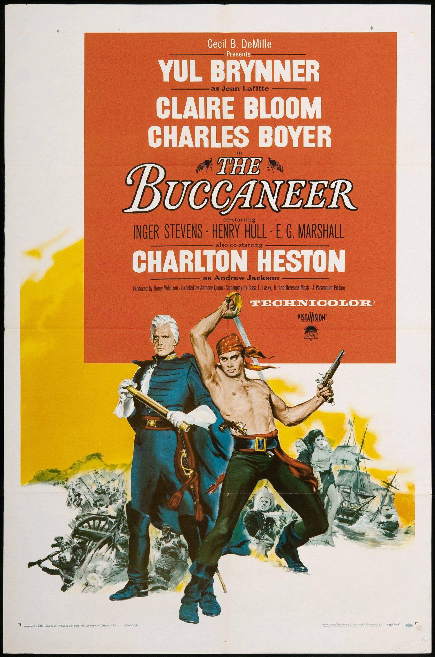 italian movie posters 1950s Buccaneer, The SKU 2275