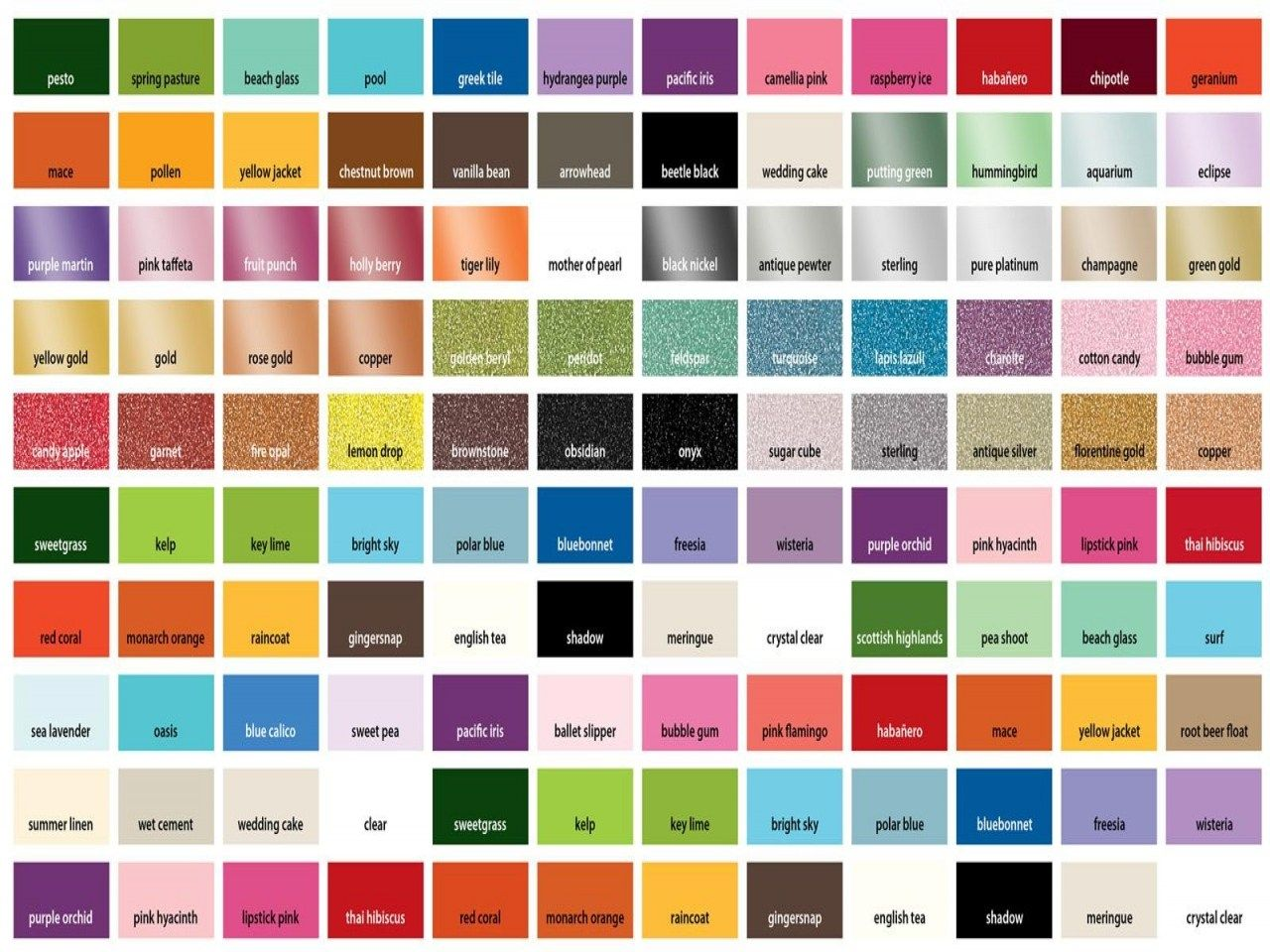 Martha Craft Paint Color Chart Samples Combinations