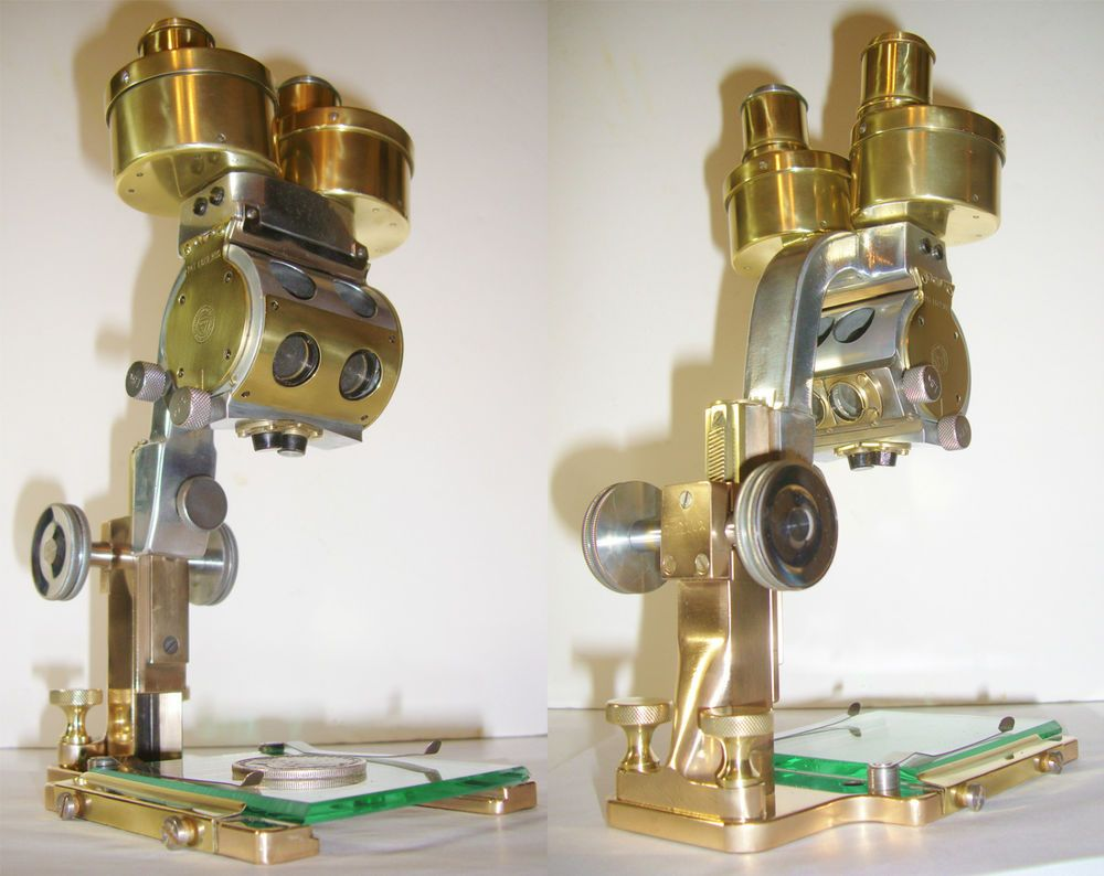 BAUSCH & LOMB Antique Binocular Microscope Stereoscopic Dissecting WIDE FIELD #bauschlomb
