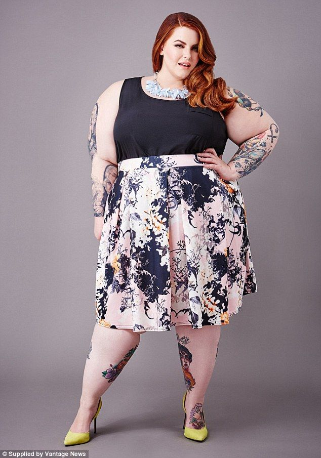 Size 22 Supermodel Tess Holliday Graces The Cover Of People Plus Size Fashion Fashion Printed Skater Skirt