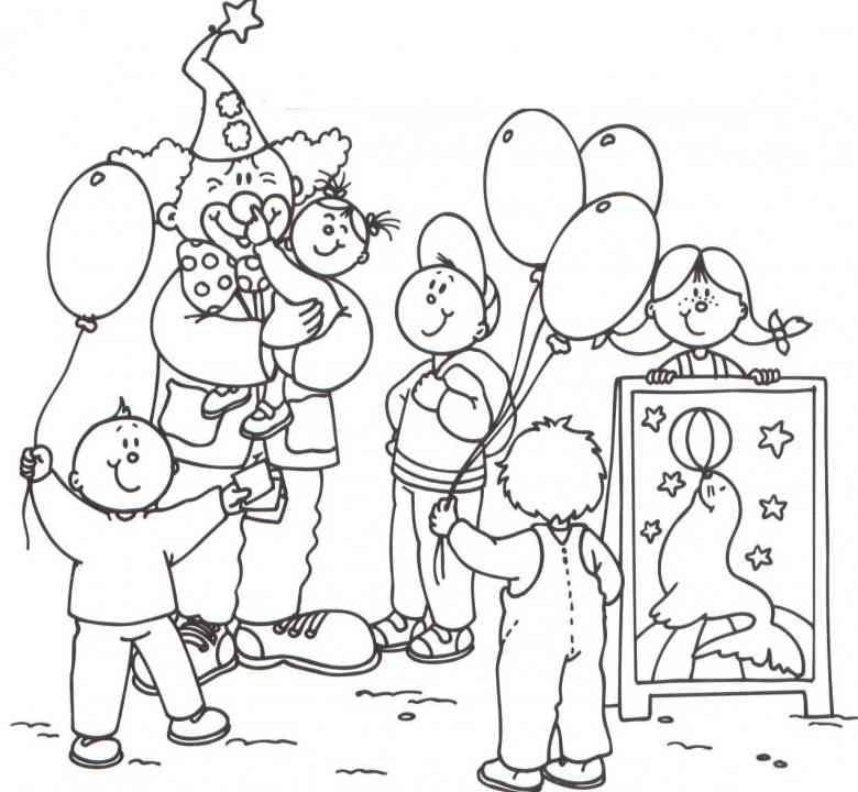 zirkus 18 ausmalbilder  birthday surprise  pinterest