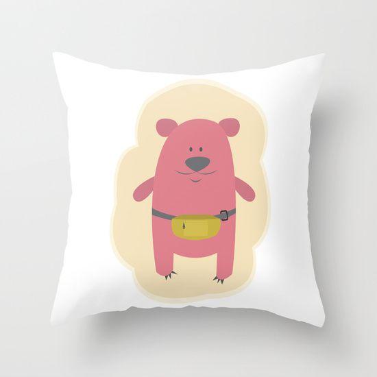 @paisleyprintsonline $20.00 http://society6.com/product/mrs-polar-bear_pillow#25=193&18=126