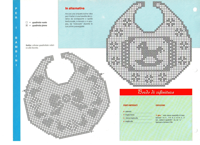 Bavaglini filet | Il blog di Vera Maglia&Uncinetto | Fili ...