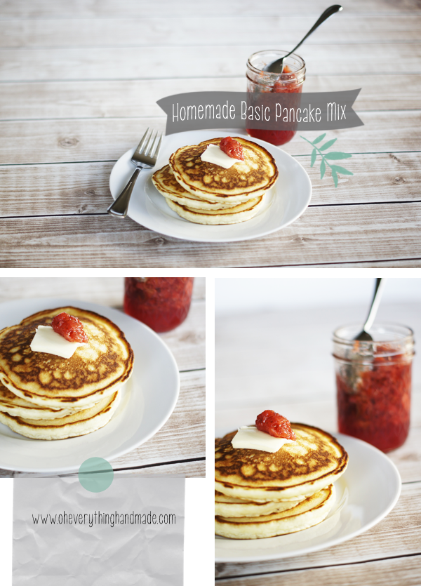 Recipe Homemade Basic Pancake Mix Recipe Recipes Pinterest