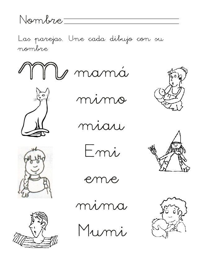 Proyecto Habla M Consonante M Tareas Para Ninos