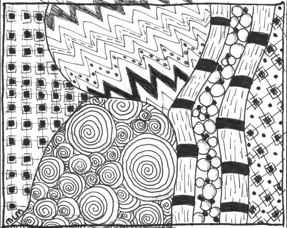 Cooking with Crafts: Zentangle!