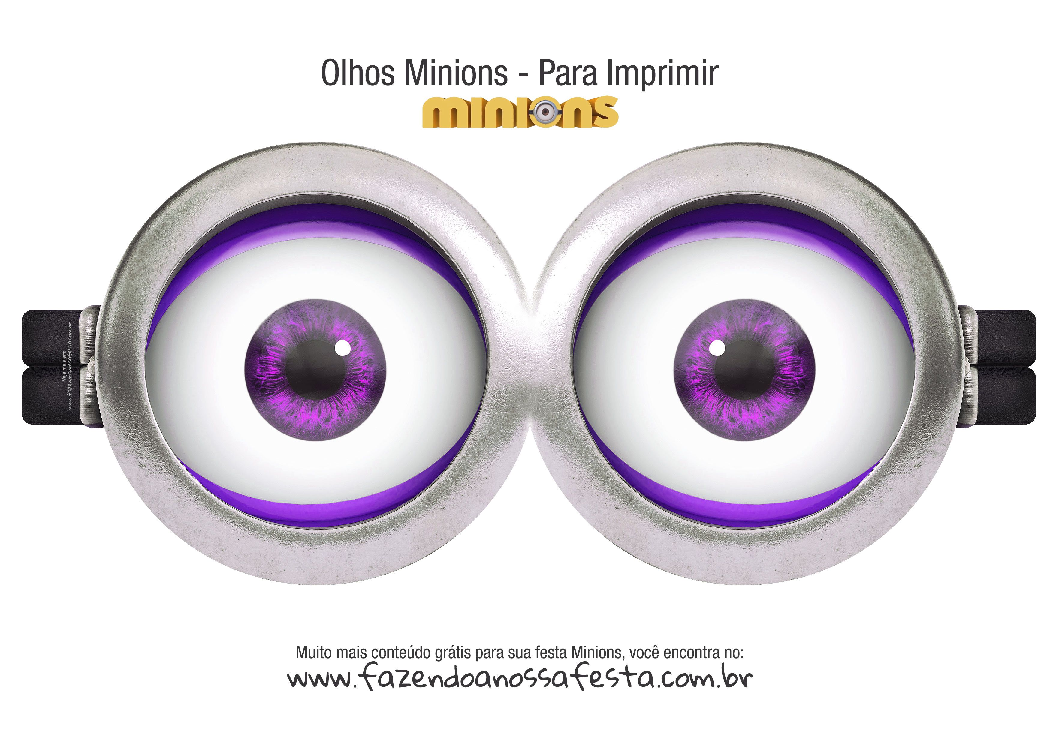 Olhos Minions Evil 2 Eyes Minions Festa Minion E Olhos