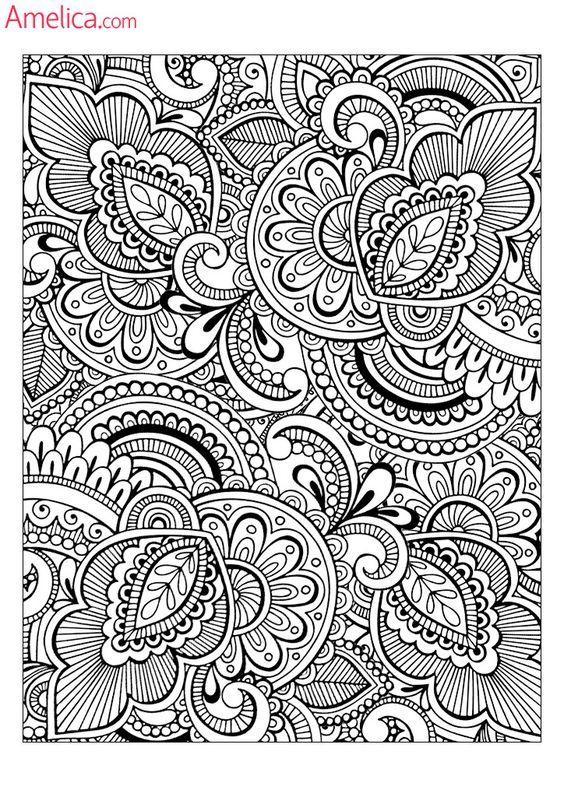 раскраска сложные узоры | Pattern coloring pages, Adult ...