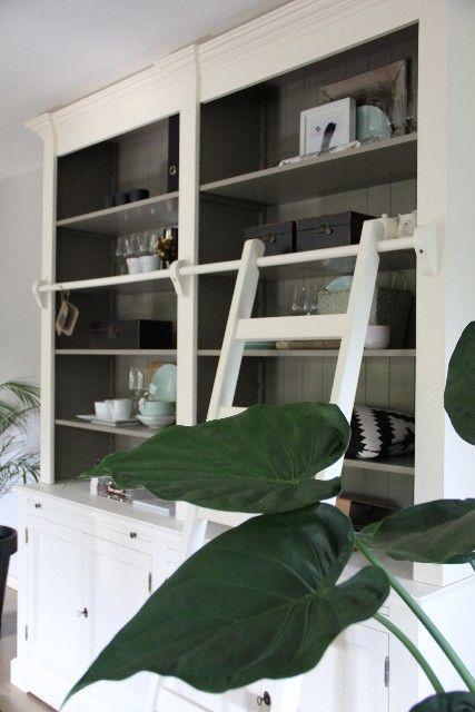 boekenkast landelijk massief hout white inndoors meubelen en