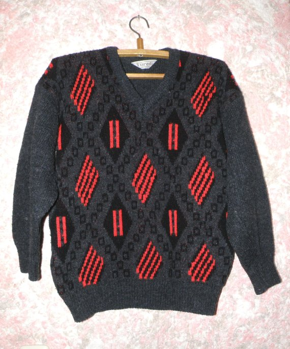 e01133265 Vintage 90s mens sweater. Warm wool turkish sweater. Vintage ...