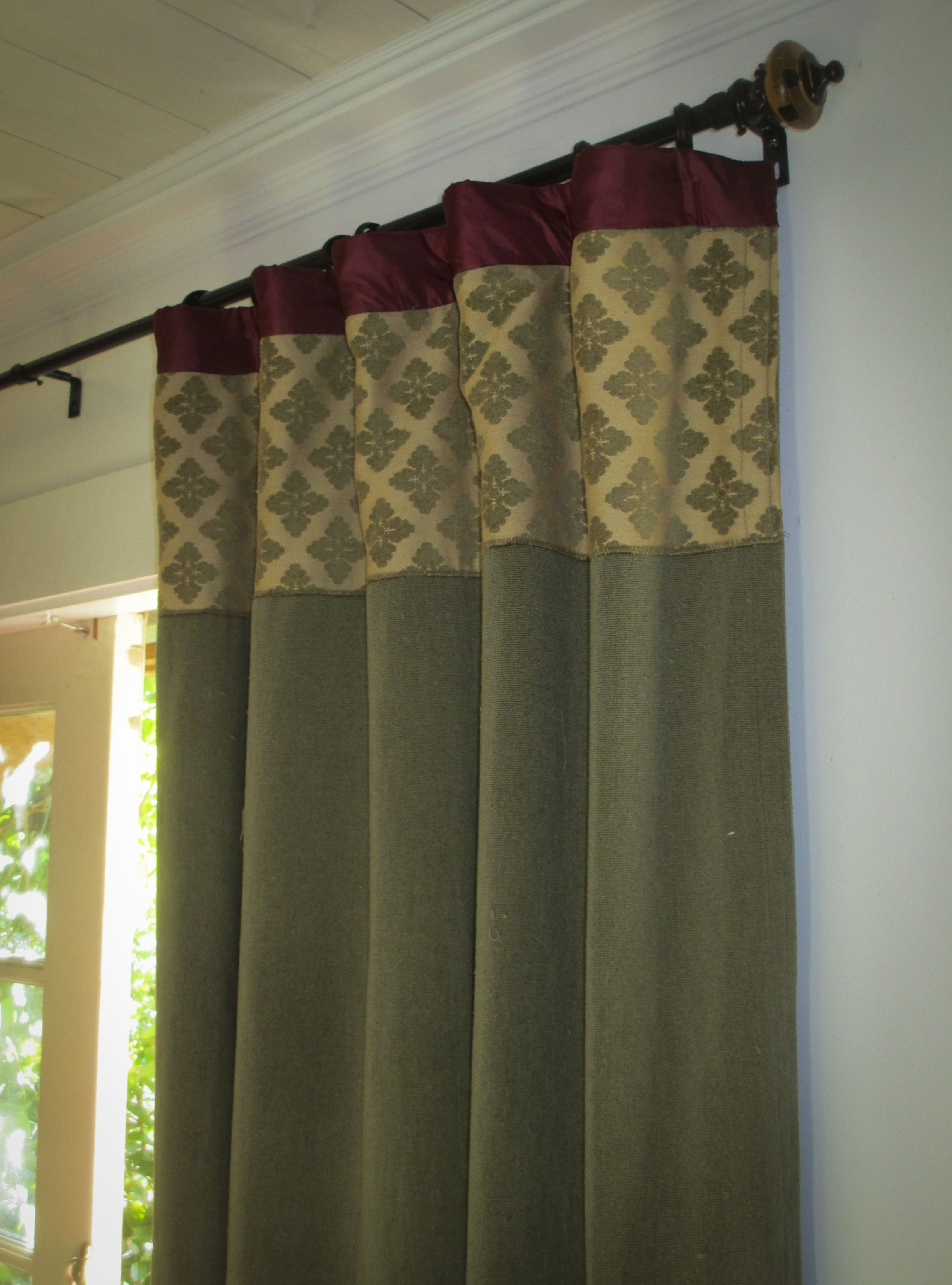 Drapes Awesome Banding And Contrast Ideas Different Color Scheme, But Wonderful Detail