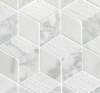 Carrara Cube Mosaic Tile Mandarin Stone White Marble Mosaic Marble Mosaic Tiles