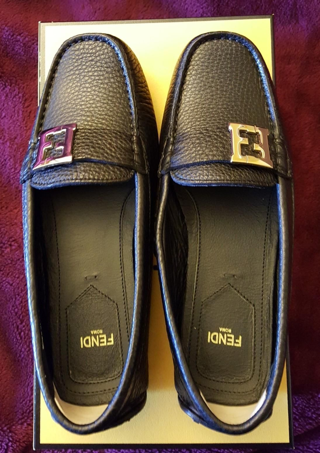 3a00a34035d2 Get the must-have flats of this season! These Fendi Black College Drivers  Moccasins Size 7 Flats are a top 10 member favorite on Tradesy.