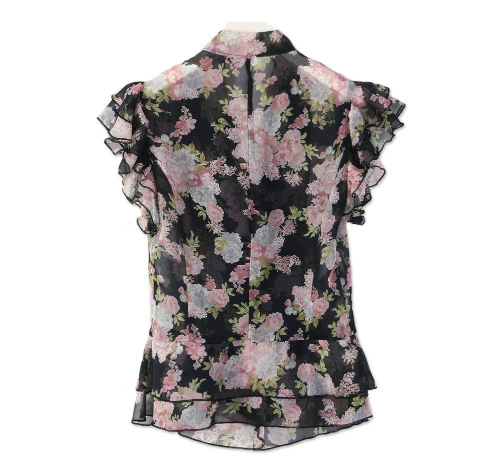 Ladies'fashion top / chiffon top / korean fashion style/Missy top ...