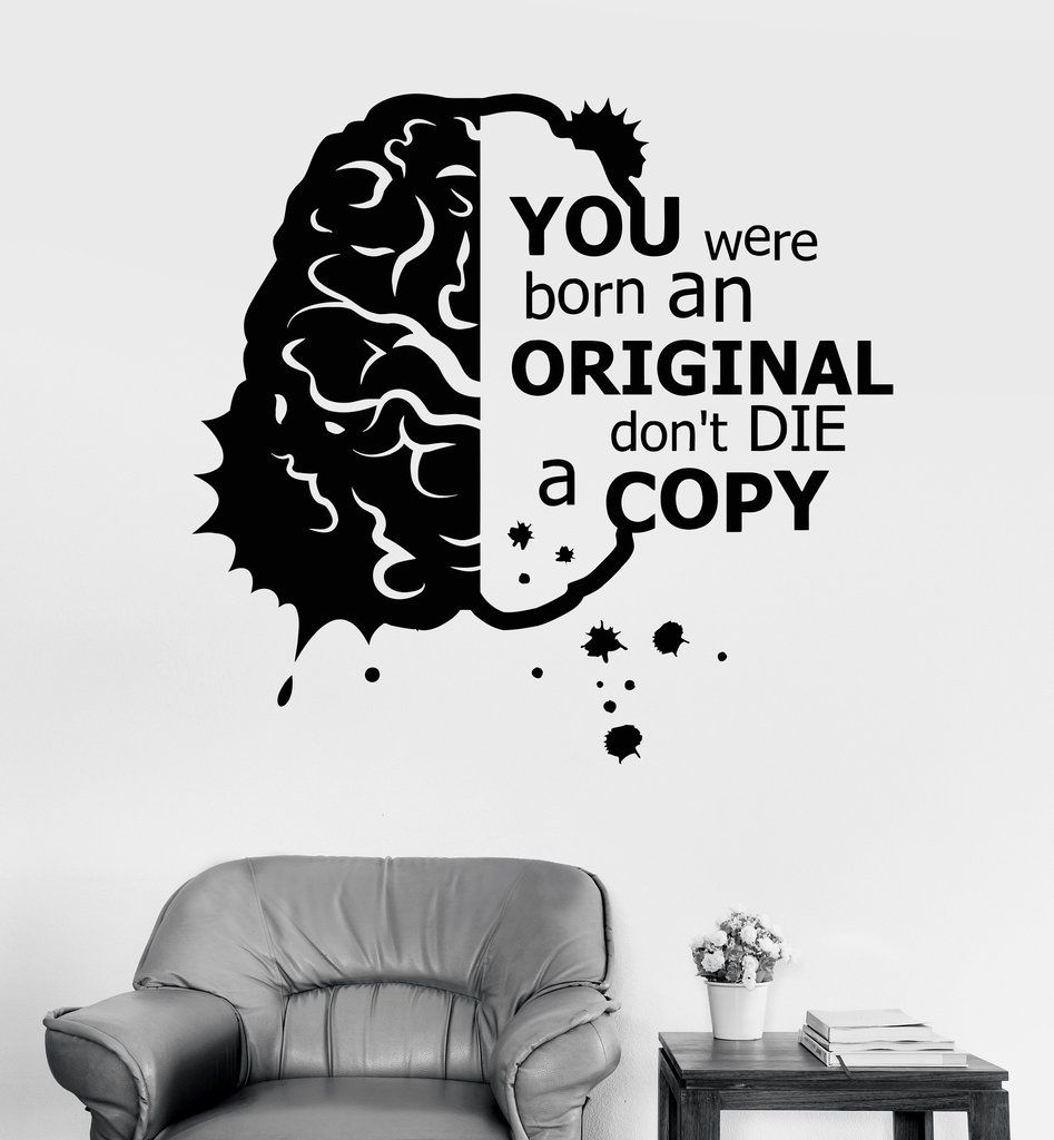 Vinyl wall decal motivation inspiration quote brain stickers vinyl wall decal motivation inspiration quote brain stickers ig3671 amipublicfo Choice Image