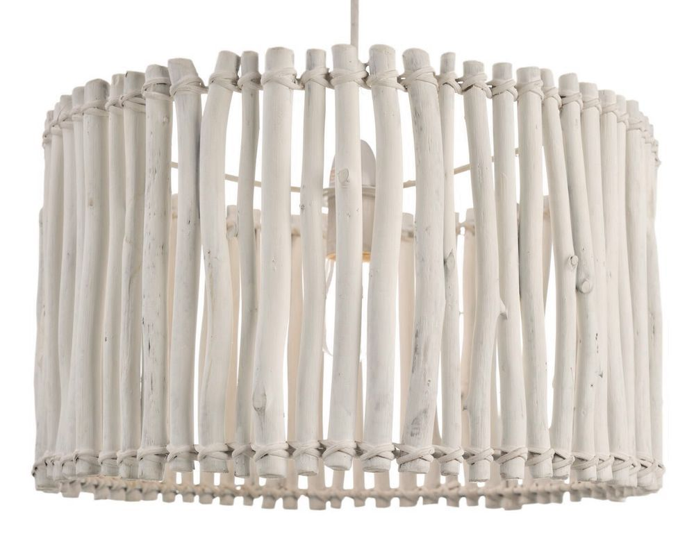 White washed wood sphere chandelier chandeliers by shades of light - Large White Washed Nordic Natural Wood Sticks Ceiling Light Shade Pendant New On Ebay 50