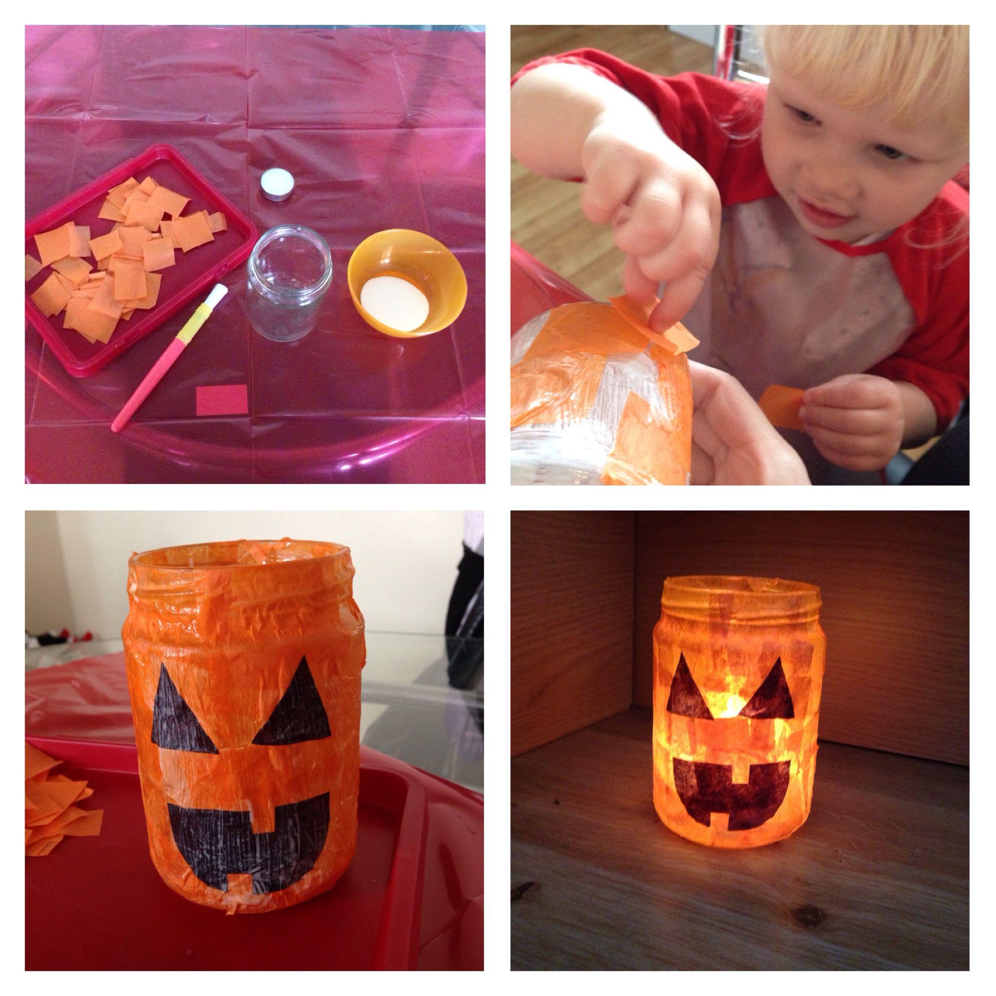 Pumpkin luminaire jar :)