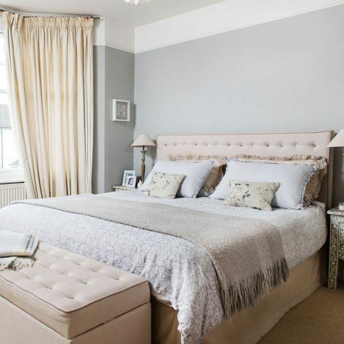 ▷ 1001 + Ideen für Schlafzimmer grau gestalten zum Entlehnen - schlafzimmer einrichten rosa