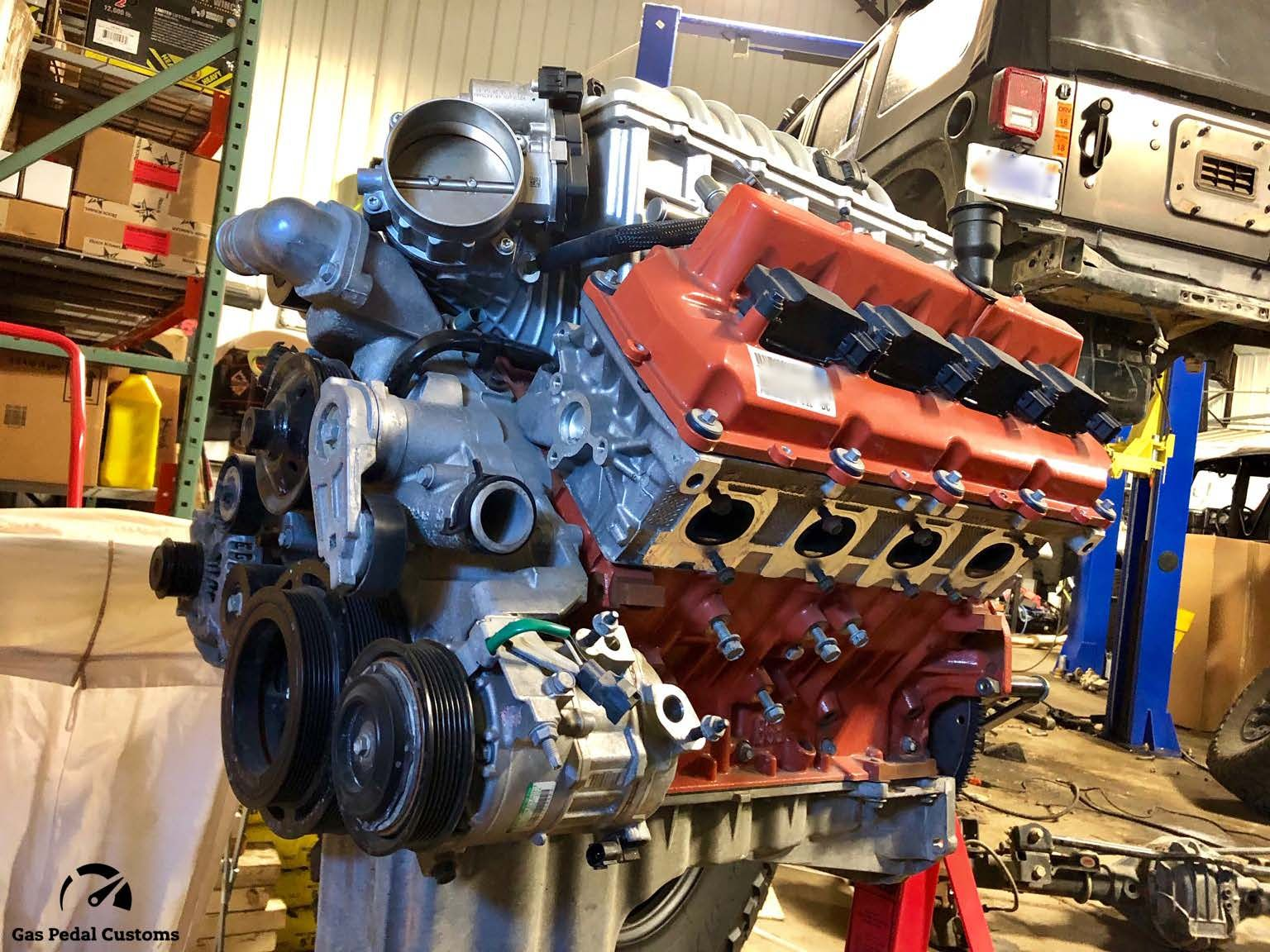 medium resolution of hellcat engine for a custom jeep wrangler unlimited gas pedal customs hemi jeep conversions jeep suspension systems accessories wheels and more