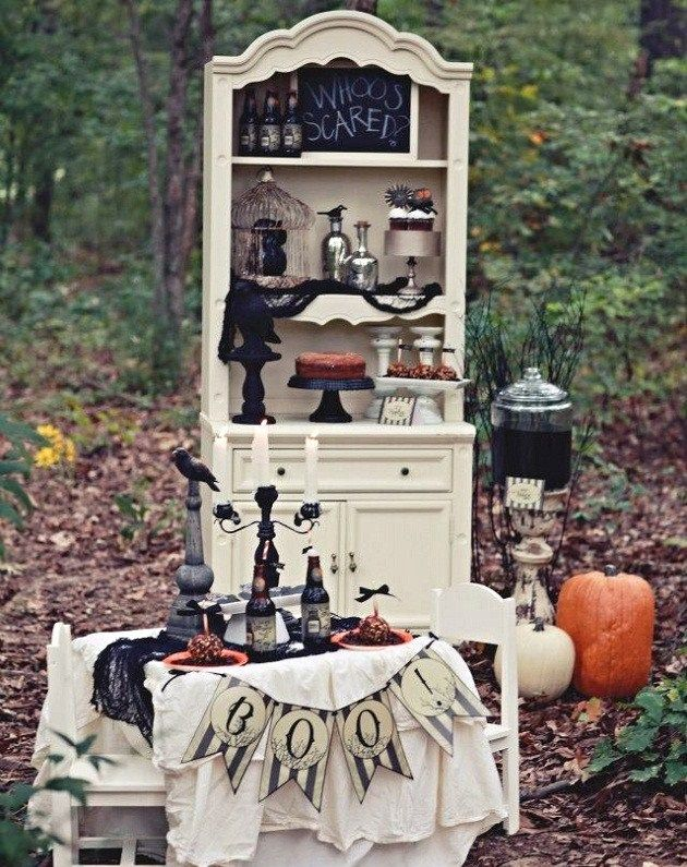 12 Halloween Parties To Inspire You Halloween parties, Vintage and - haunted forest ideas for halloween