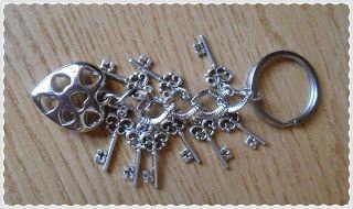 Silvia Jewellery of Style: Portachiavi con chiavette e cuore argentato