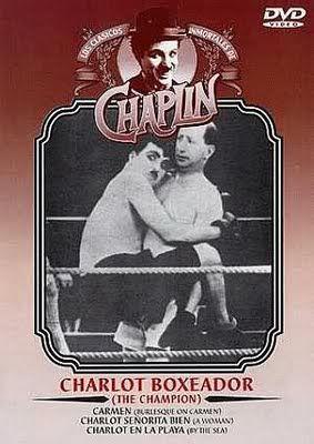 G 8-88/45 - Charlot boxeador; Carmen; Charlot señorita bien; Charlot en la playa [Imagen de http://maiteiacortos.blogspot.com.es/2012/10/descarga-charlot-boxeador-1915.html]