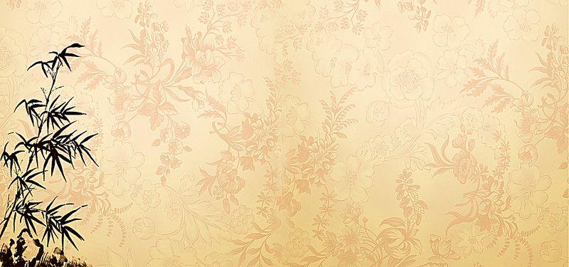 中國風竹子背景 Spring Floral Wallpaper Vector Background