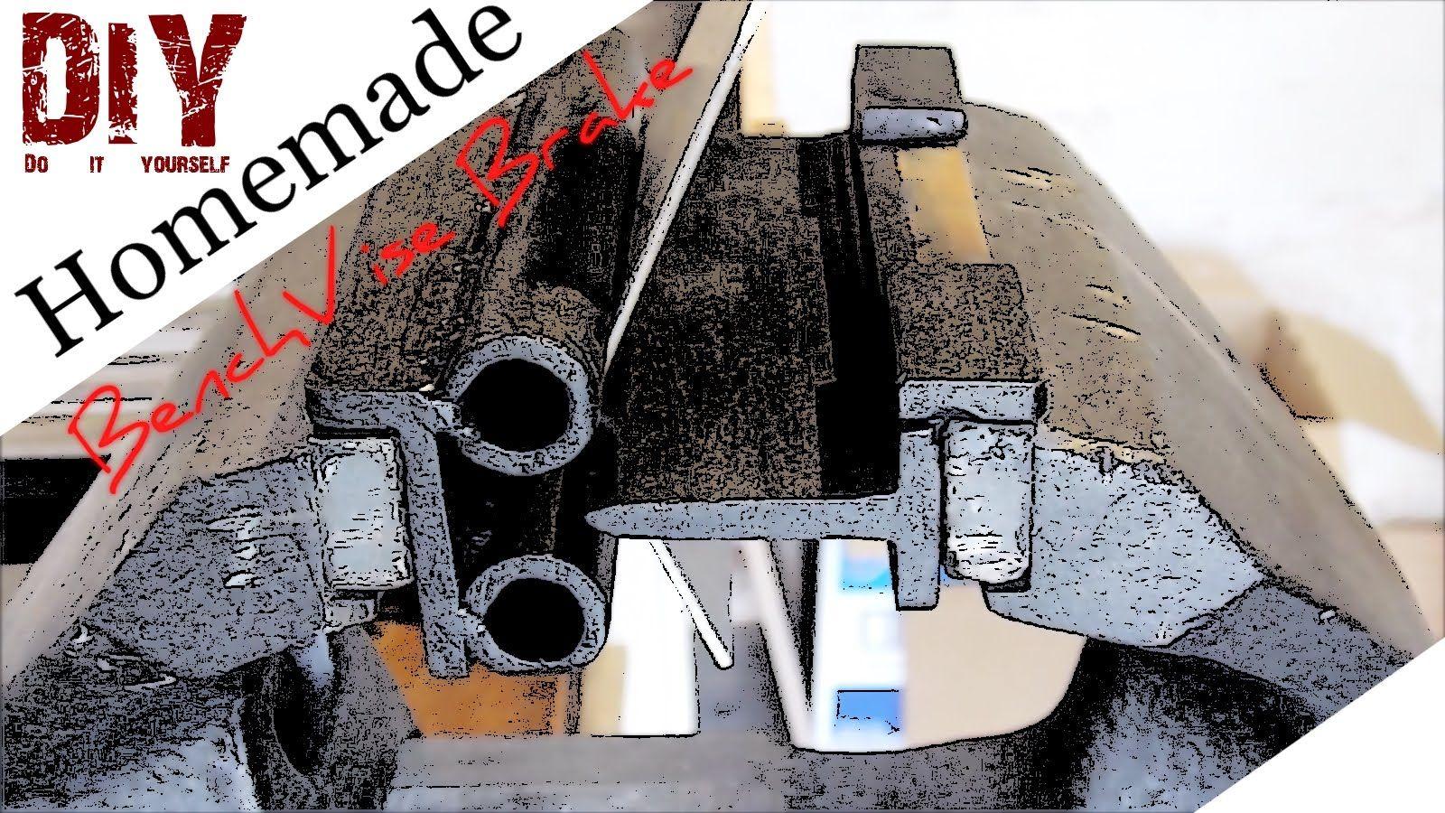 Homemade supereffective bench vise brake metal bender