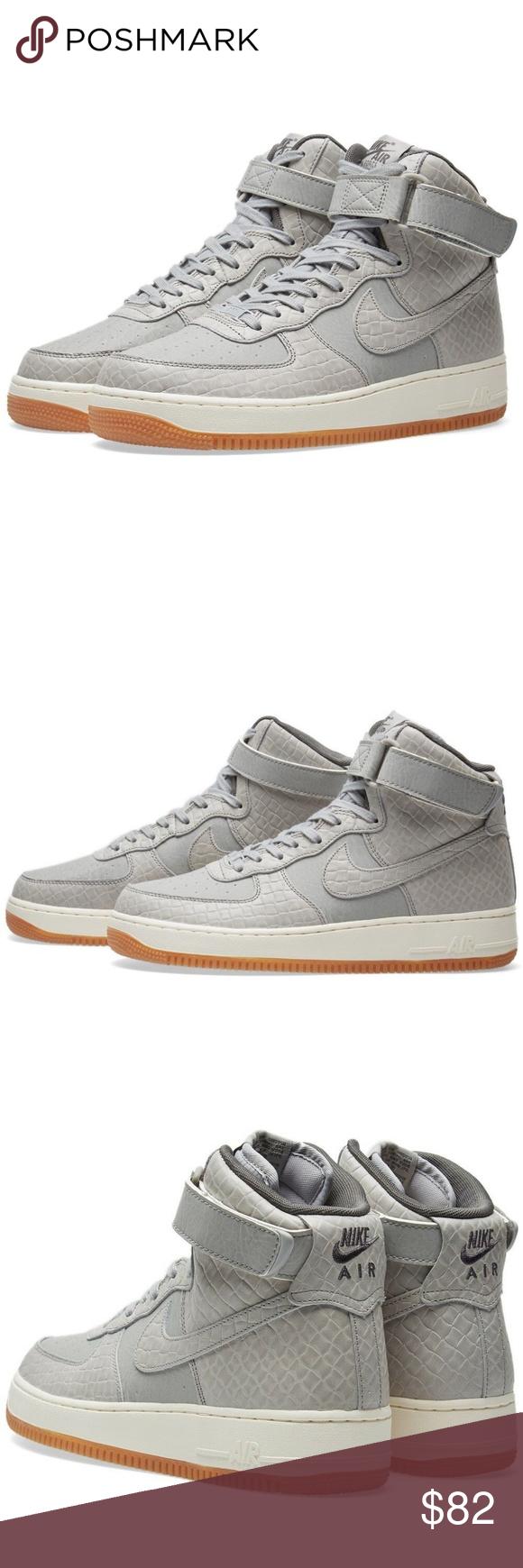 wholesale dealer 64745 7680b New Nike women s Air Force 1 High Premium Shoes New Nike Women s Air Force  1 High PREMIUM Shoes Style Number  654440-008 Wolf Grey Wolf Grey Women    Adult ...