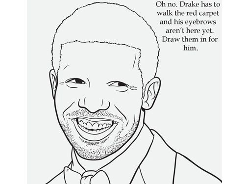 draw in drakes brows with the rap coloring book yes were serious - Rap Coloring Book