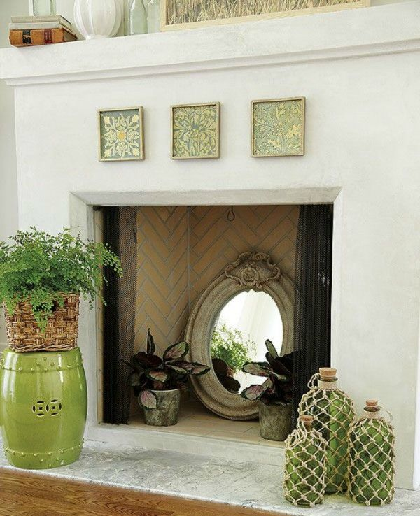 Unused fireplace ideas just for fun unused fireplace - Non working fireplace decor ...
