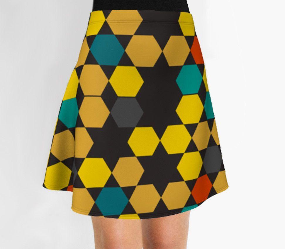 Stars Skirt - Flare Skirt - Modern Skirt - Designer Skirt