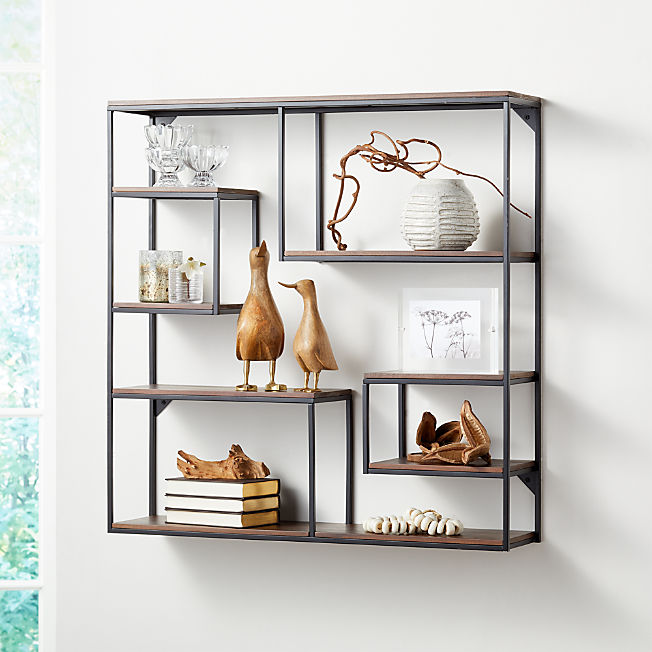 Display Shelves Picture Ledges Crate And Barrel In 2020 Cube Wall Shelf Wall Shelves Shelves