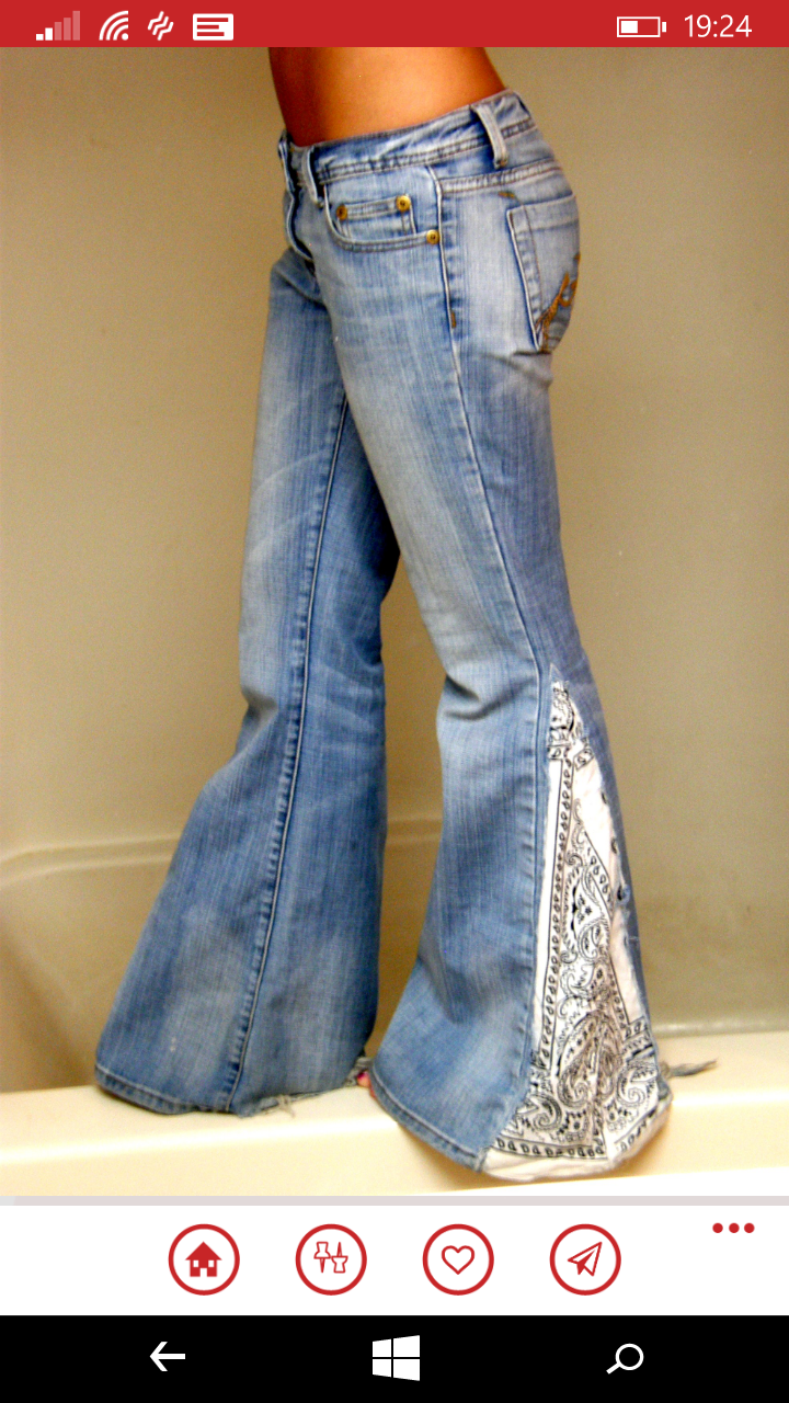 I miss bell bottoms .... ready for a comeback! Diy With Jeans f701685da6d1