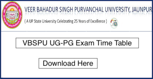 VBSPU BA Time Table 2019 issue at www vbspuexams com, Download here