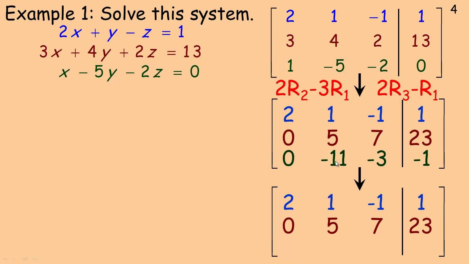 Solving Linear Systems Using Matrices4
