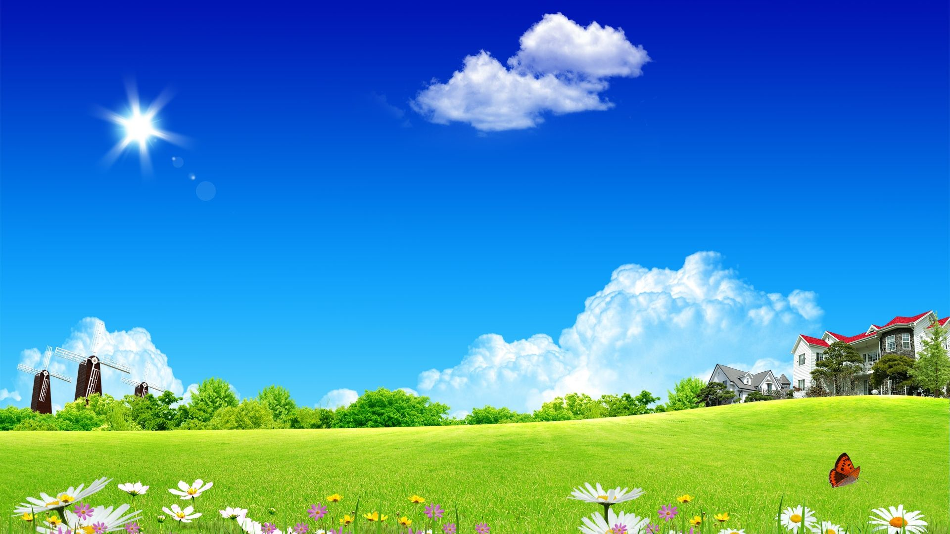 Free Spring Desktop Themes Clean Environment Natural Scenery Nature Wallpaper Scenery