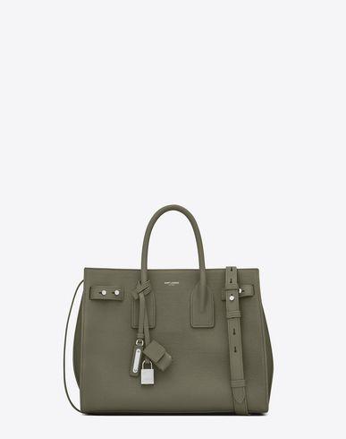 Military Souple De Bag Grained In Leather Sac Small Khaki Jour AYZBg