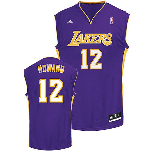 987d0088f4b Adidas NBA Los Angeles Lakers 12 Dwight Howard New Revolution 30 Swingman  Road Purple Jersey