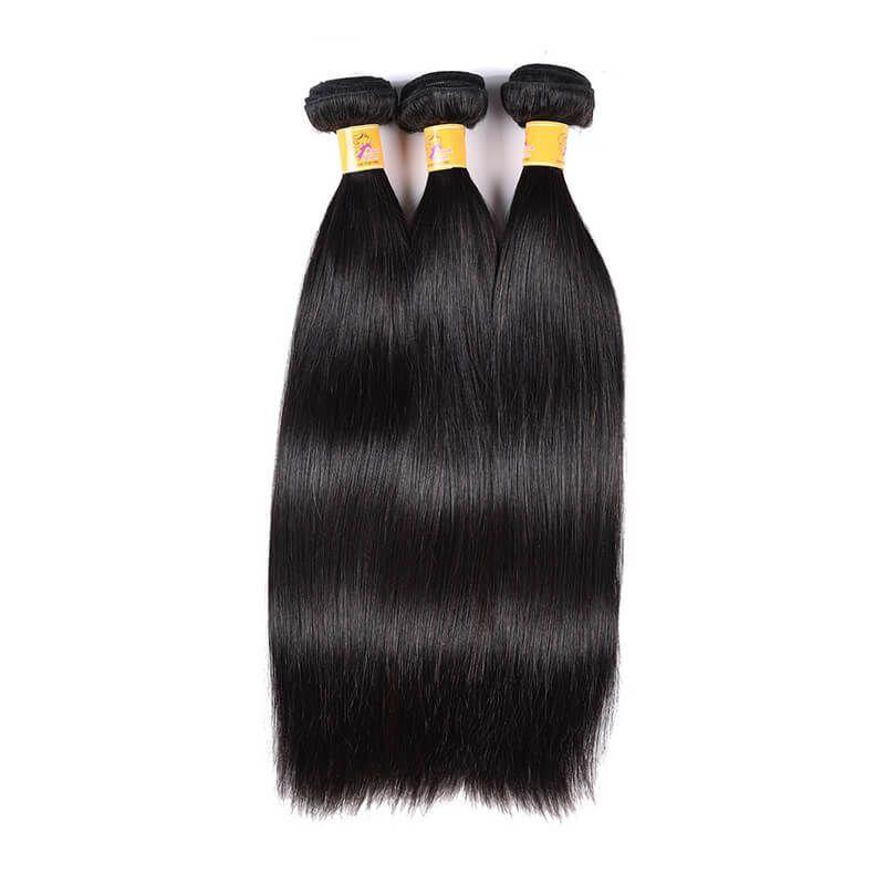 Marchqueen Raw Indian Hair Weave Straight Human Virgin Hair 3