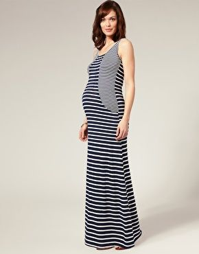 1f409ccca6808 Cut About Stripe Maxi Dress | Bump! | Striped maternity dresses ...