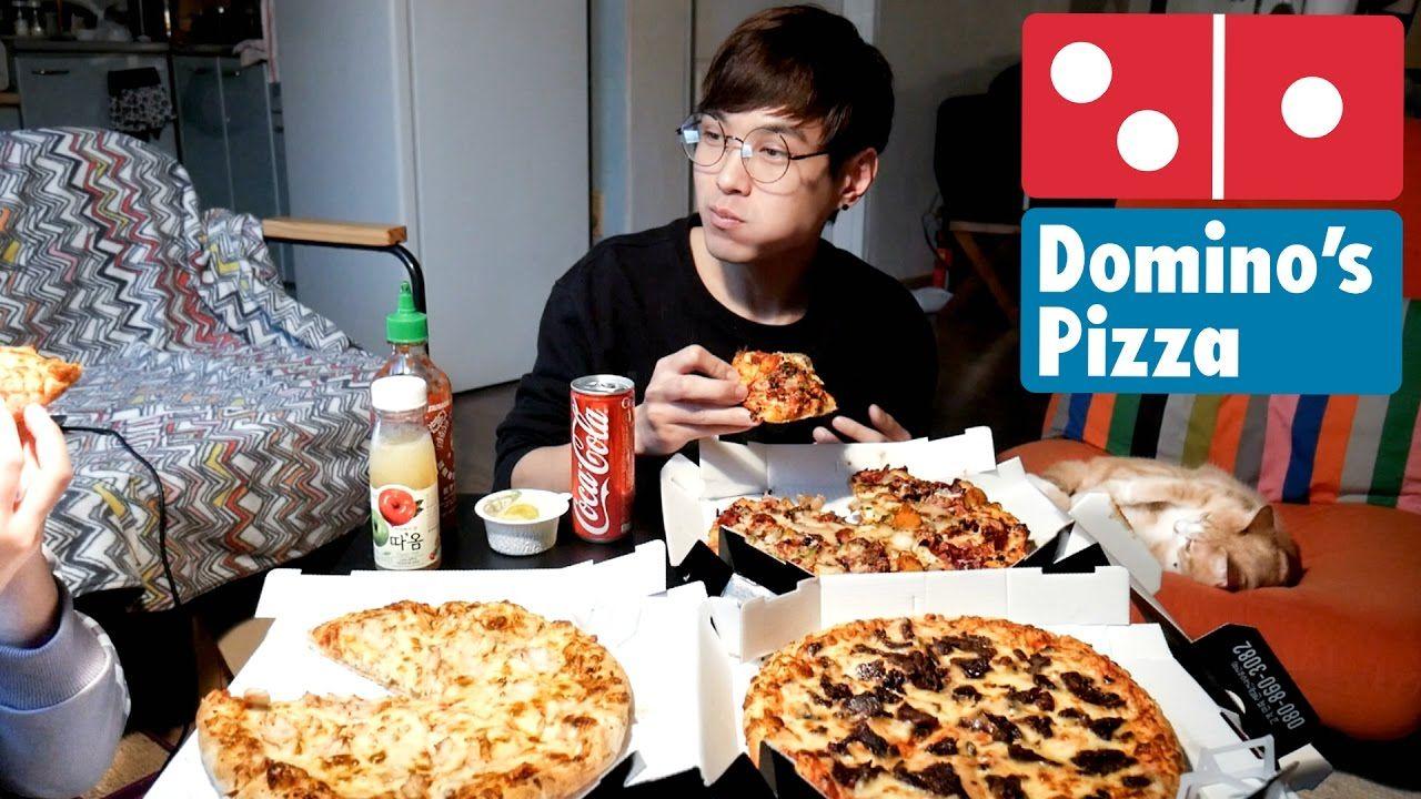 Domino's Pizza - MUKBANG w/ GF