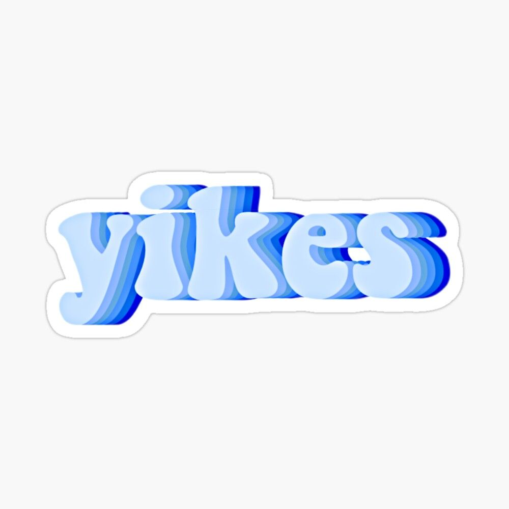 Yikes Sticker By Madyson Kosar In 2020 Cute Blue Wallpaper Blue Aesthetic Pastel Blue Wallpaper Iphone