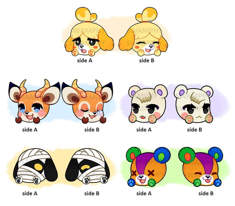 Animal Crossing New Leaf New Horizons Acrylic Charms