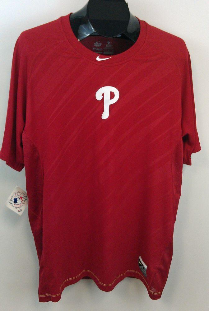3a7ab196 Philadelphia Phillies Nike Pro Combat Fitted Shirt XL Mesh Back/Sides NWT  $39R #Nike #PhiladelphiaPhillies