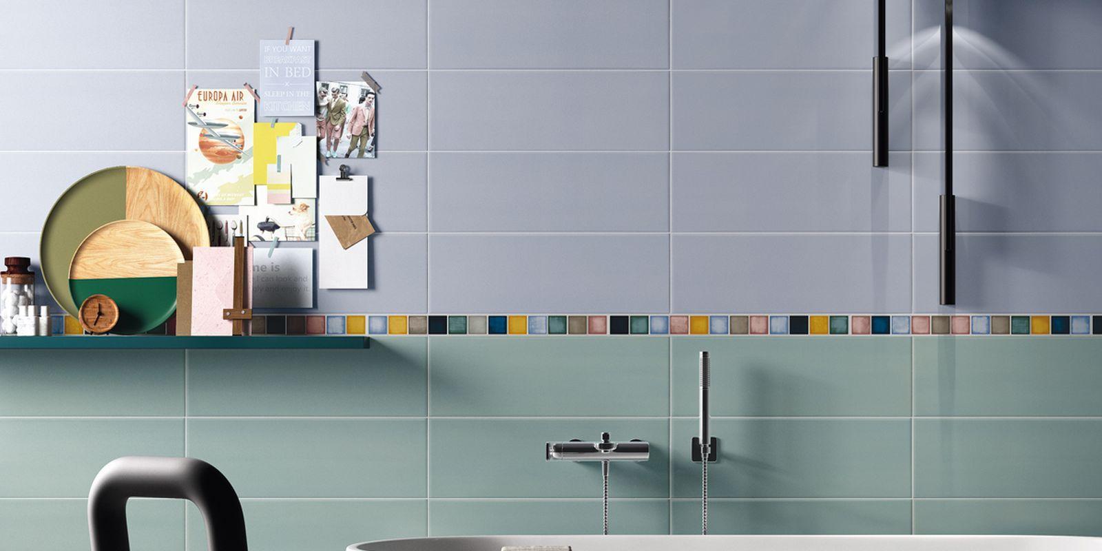 PIASTRELLE PLAY, bathroom modern ceramica double-fired wall tile [AM ...