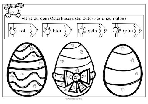 Ostereier anmalen, Ostern, malen, malen nach Symbolen, Wahrnehmung ...