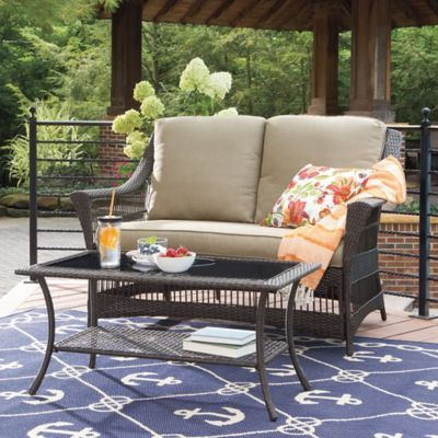 Awesome Savannah Wicker Patio Furniture Collection   BedBathandBeyond.com